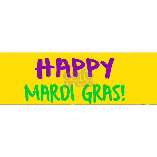 Happy Mardi Gras Crown and Beads