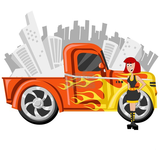 Girl with truck art