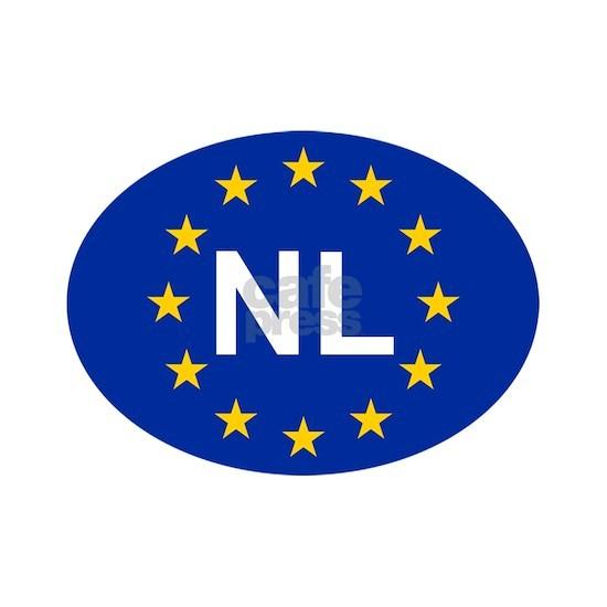 sticker NL blue