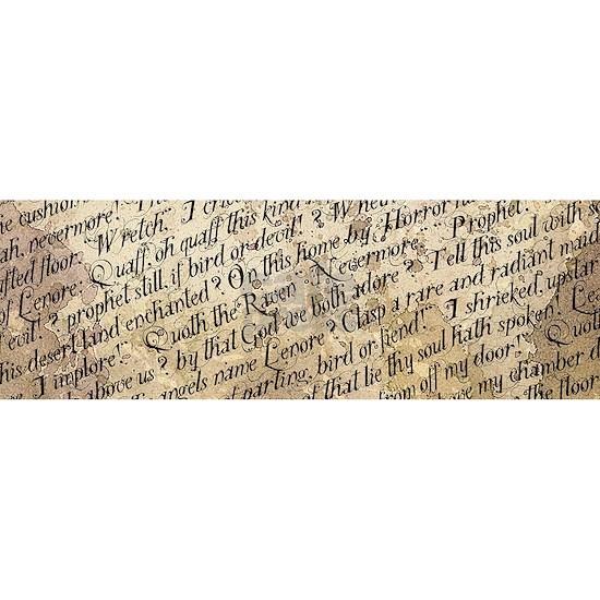 Poe Raven Text Pattern
