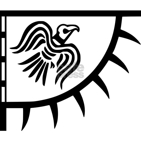 Viking Black Raven Banner