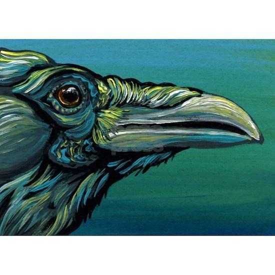 Rainbow Raven Crow Bird WildlifeArt