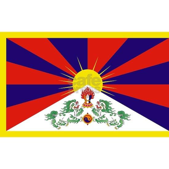 Tibetan Free Tibet Flag - Peu Rangzen
