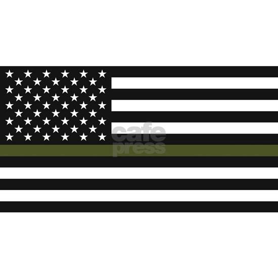 Thin Green Line - American US United States Flag