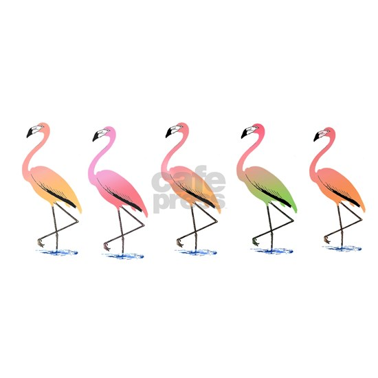 March of the Tropical Flamingos