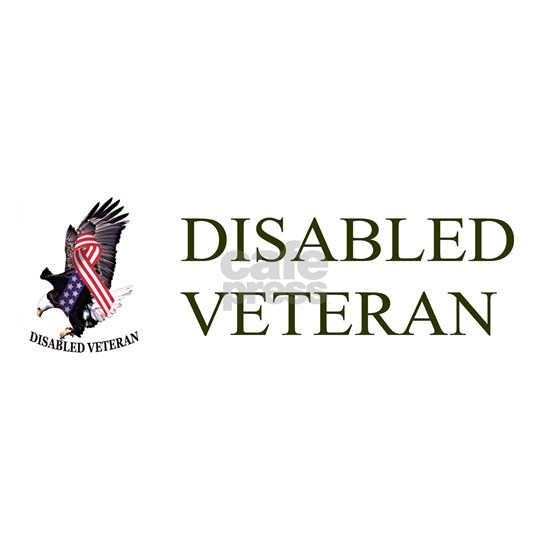 Disabled Veteran w/Eagle and Flad