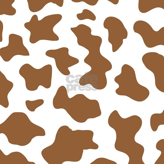 Brown Cow Animal Print