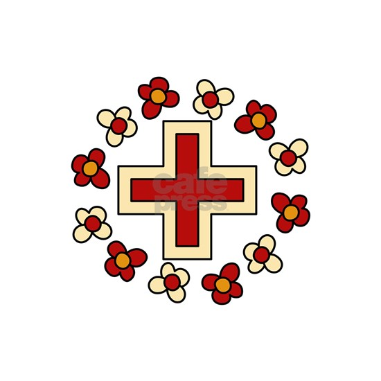 Floral Red Cross