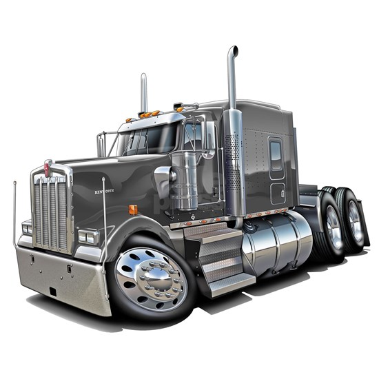 Kenworth w900 Grey Truck