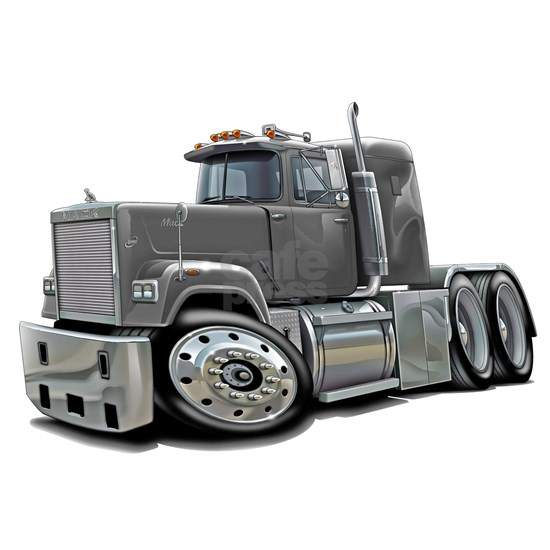 Mack Superliner Grey Truck