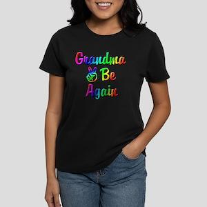 Peace Grandma To Be Again Women's Dark T-Shirt