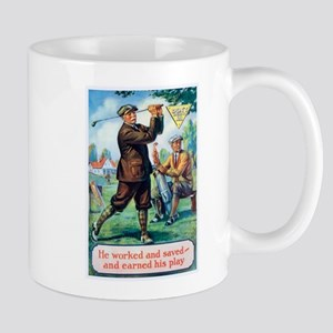 Golf, Motivational, Vintage Poster Mugs