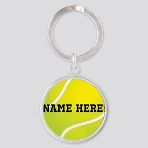 Personalized Tennis Ball Keychains