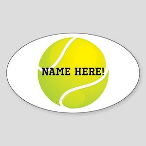 Personalized Tennis Ball Sticker