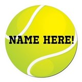 Tennis player Round Car Magnets