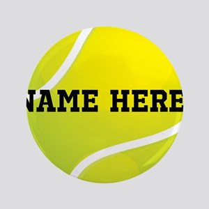 """Personalized Tennis Ball 3.5"""" Button"""