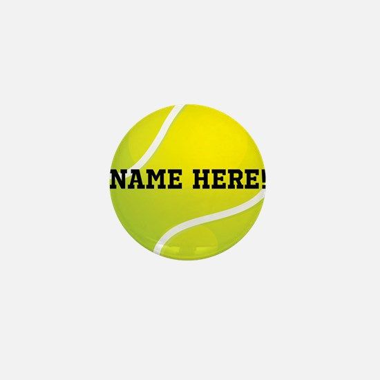 Personalized Tennis Ball Mini Button