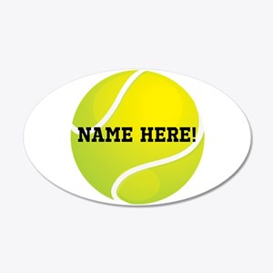 Personalized Tennis Ball Wall Decal