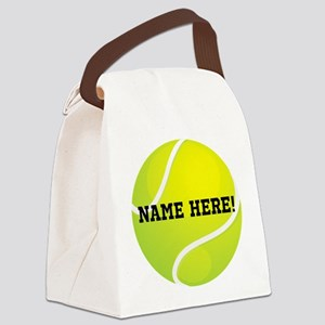 Personalized Tennis Ball Canvas Lunch Bag