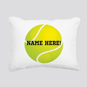 Personalized Tennis Ball Rectangular Canvas Pillow