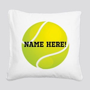 Personalized Tennis Ball Square Canvas Pillow