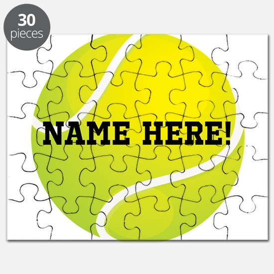 Personalized Tennis Ball Puzzle
