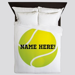 Personalized Tennis Ball Queen Duvet