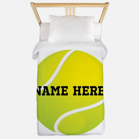 Personalized Tennis Ball Twin Duvet