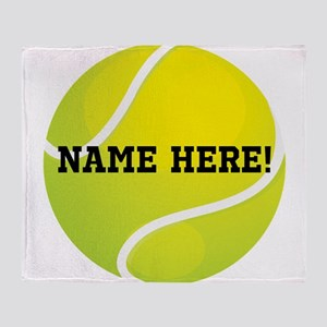 Personalized Tennis Ball Throw Blanket