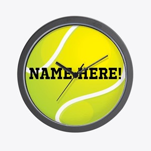 Personalized Tennis Ball Wall Clock