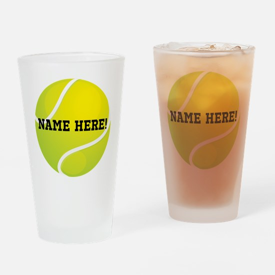 Personalized Tennis Ball Drinking Glass