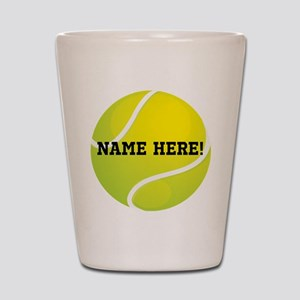 Personalized Tennis Ball Shot Glass
