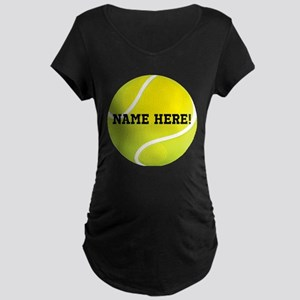 Personalized Tennis Ball Maternity T-Shirt