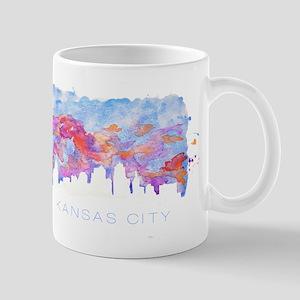 Kansas City Skyline Watercolor Mugs