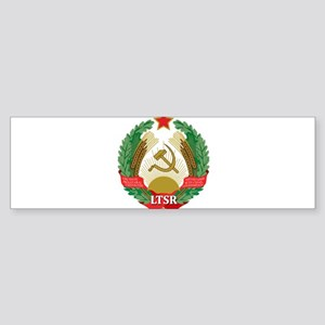 Emblem of the Lithuanian SSR - Liet Bumper Sticker