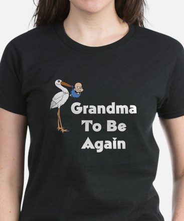 Stork Grandma To Be Again Women's Dark T-Shirt