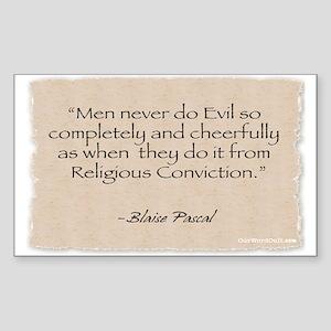 Rectangle Sticker: Evil -Pascal