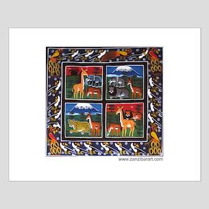 Four Animals (Wanyama Wanne) Small Poster
