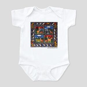 Four Animals (Wanyama Wanne) Infant Bodysuit