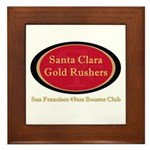 Gold Rusher Logo Framed Tile