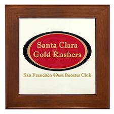Gold Rusher Logo Framed Tile