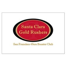 Gold Rusher Logo Posters Large Poster