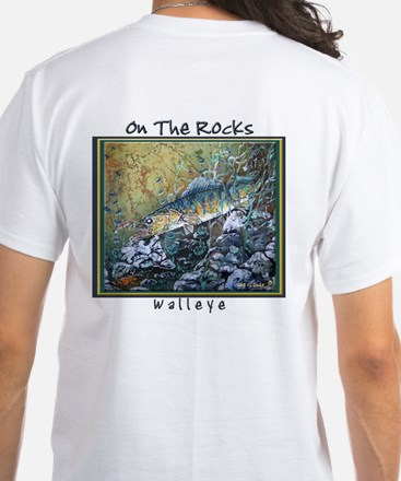 Walleye<br>White T-Shirt SEE BACK!