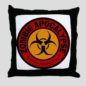 ZOMBIE APOCALYPSE Tactical Assault Un Throw Pillow