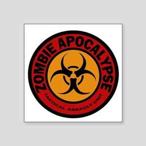 "ZOMBIE APOCALYPSE Tactical  Square Sticker 3"" x 3"""