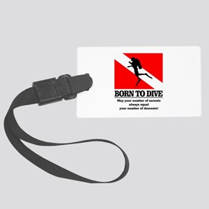 Born To Dive (Descent-Ascent) Luggage Tag
