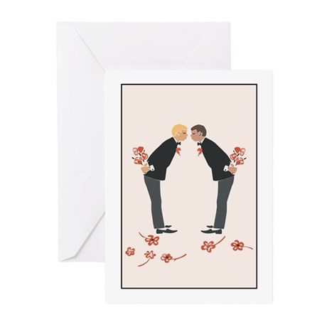 """Gay Wedding/I Love You"" Greeting Cards (Package o"