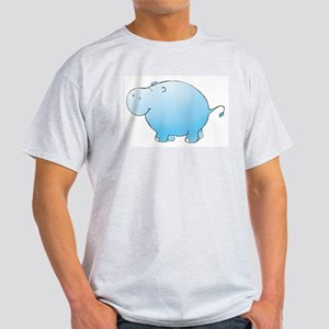 Turquoise Hippo Ash Grey T-Shirt
