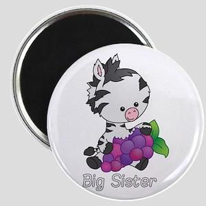 Big Sister Zebra Magnet
