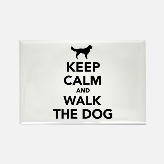 Keep calm and walk the dog Rectangle Magnet